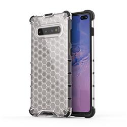 Honeycomb TPU + PC Hybrid Armor Shockproof Case Cover for Samsung Galaxy S10 Plus(6.4 inch) - Transparent