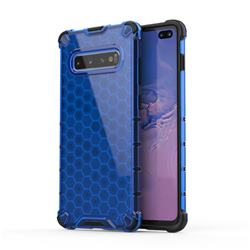 Honeycomb TPU + PC Hybrid Armor Shockproof Case Cover for Samsung Galaxy S10 Plus(6.4 inch) - Blue