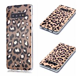 Leopard Galvanized Rose Gold Marble Phone Back Cover for Samsung Galaxy S10 Plus(6.4 inch)