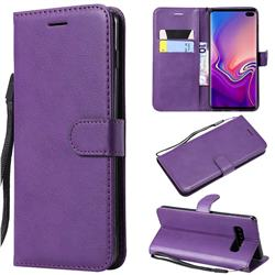 Retro Greek Classic Smooth PU Leather Wallet Phone Case for Samsung Galaxy S10 Plus(6.4 inch) - Purple