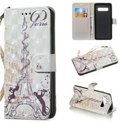 Tower Couple 3D Painted Leather Wallet Phone Case for Samsung Galaxy S10 Plus(6.4 inch)