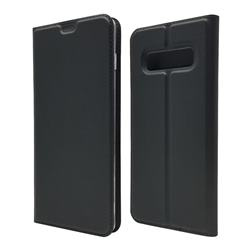 Ultra Slim Card Magnetic Automatic Suction Leather Wallet Case for Samsung Galaxy S10 Plus(6.4 inch) - Star Grey