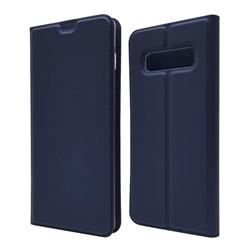 Ultra Slim Card Magnetic Automatic Suction Leather Wallet Case for Samsung Galaxy S10 Plus(6.4 inch) - Royal Blue