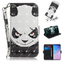 Angry Bear 3D Painted Leather Wallet Phone Case for Samsung Galaxy S10 Plus(6.4 inch)