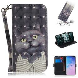 Cat Embrace 3D Painted Leather Wallet Phone Case for Samsung Galaxy S10 Plus(6.4 inch)