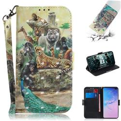Beast Zoo 3D Painted Leather Wallet Phone Case for Samsung Galaxy S10 Plus(6.4 inch)