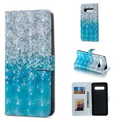 Sea Sand 3D Painted Leather Phone Wallet Case for Samsung Galaxy S10 Plus(6.4 inch)