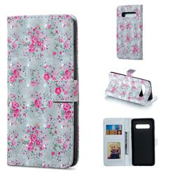 Roses Flower 3D Painted Leather Phone Wallet Case for Samsung Galaxy S10 Plus(6.4 inch)