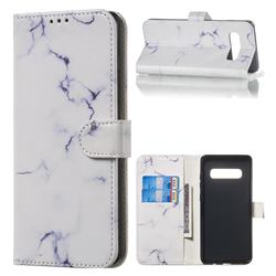 Soft White Marble PU Leather Wallet Case for Samsung Galaxy S10 Plus(6.4 inch)