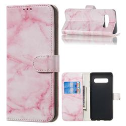 Pink Marble PU Leather Wallet Case for Samsung Galaxy S10 Plus(6.4 inch)