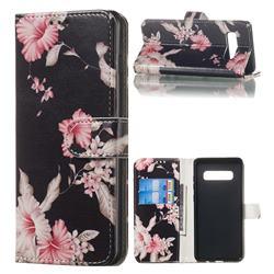 Azalea Flower PU Leather Wallet Case for Samsung Galaxy S10 Plus(6.4 inch)