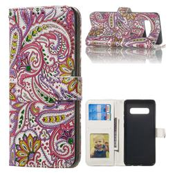 Pepper Flowers 3D Relief Oil PU Leather Wallet Case for Samsung Galaxy S10 Plus(6.4 inch)