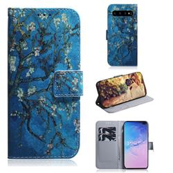 Apricot Tree PU Leather Wallet Case for Samsung Galaxy S10 Plus(6.4 inch)