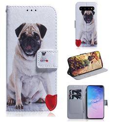 Pug Dog PU Leather Wallet Case for Samsung Galaxy S10 Plus(6.4 inch)