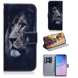 Lion Face PU Leather Wallet Case for Samsung Galaxy S10 Plus(6.4 inch)