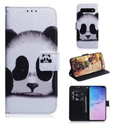 Sleeping Panda PU Leather Wallet Case for Samsung Galaxy S10 Plus(6.4 inch)