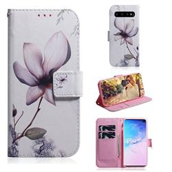 Magnolia Flower PU Leather Wallet Case for Samsung Galaxy S10 Plus(6.4 inch)