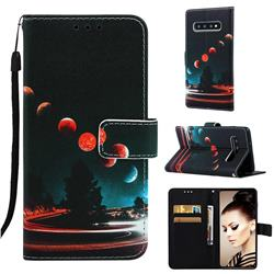 Wandering Earth Matte Leather Wallet Phone Case for Samsung Galaxy S10 Plus(6.4 inch)