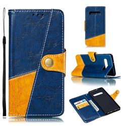 Retro Magnetic Stitching Wallet Flip Cover for Samsung Galaxy S10 Plus(6.4 inch) - Blue