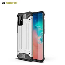 King Kong Armor Premium Shockproof Dual Layer Rugged Hard Cover for Samsung Galaxy S20 Plus / S11 - White