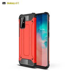 King Kong Armor Premium Shockproof Dual Layer Rugged Hard Cover for Samsung Galaxy S20 Plus / S11 - Big Red