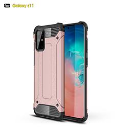 King Kong Armor Premium Shockproof Dual Layer Rugged Hard Cover for Samsung Galaxy S20 Plus / S11 - Rose Gold