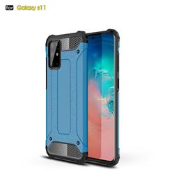 King Kong Armor Premium Shockproof Dual Layer Rugged Hard Cover for Samsung Galaxy S20 Plus / S11 - Sky Blue