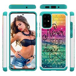 Colorful Dream Catcher Studded Rhinestone Bling Diamond Shock Absorbing Hybrid Defender Rugged Phone Case Cover for Samsung Galaxy S20 Plus / S11