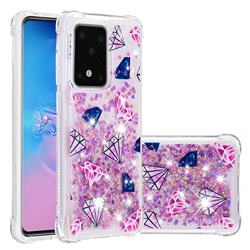 Diamond Dynamic Liquid Glitter Sand Quicksand Star TPU Case for Samsung Galaxy S20 Plus / S11