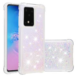 Dynamic Liquid Glitter Sand Quicksand Star TPU Case for Samsung Galaxy S20 Plus / S11 - Pink