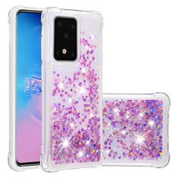 Dynamic Liquid Glitter Sand Quicksand Star TPU Case for Samsung Galaxy S20 Plus / S11 - Rose