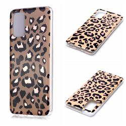 Leopard Galvanized Rose Gold Marble Phone Back Cover for Samsung Galaxy S20 Plus / S11