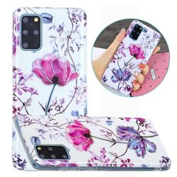 Magnolia Painted Galvanized Electroplating Soft Phone Case Cover for Samsung Galaxy S20 Plus