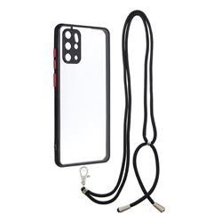 Necklace Cross-body Lanyard Strap Cord Phone Case Cover for Samsung Galaxy S20 Plus - Black