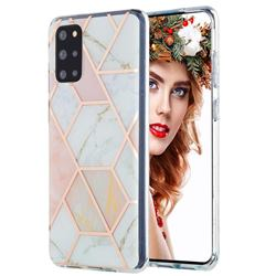 Pink White Marble Pattern Galvanized Electroplating Protective Case Cover for Samsung Galaxy S20 Plus