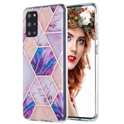 Purple Dream Marble Pattern Galvanized Electroplating Protective Case Cover for Samsung Galaxy S20 Plus