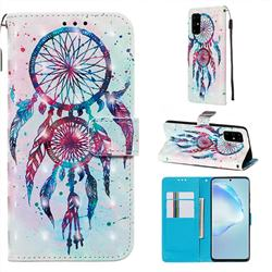 ColorDrops Wind Chimes 3D Painted Leather Wallet Case for Samsung Galaxy S20 Plus / S11