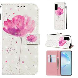 Watercolor 3D Painted Leather Wallet Case for Samsung Galaxy S20 Plus / S11