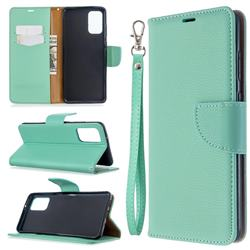 Classic Luxury Litchi Leather Phone Wallet Case for Samsung Galaxy S20 Plus / S11 - Green