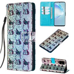 Little Unicorn Sequins Painted Leather Wallet Case for Samsung Galaxy S20 Plus / S11