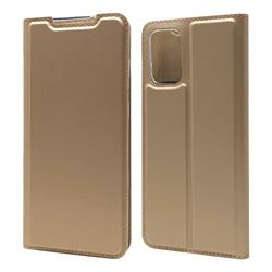 Ultra Slim Card Magnetic Automatic Suction Leather Wallet Case for Samsung Galaxy S20 Plus / S11 - Champagne