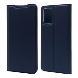 Ultra Slim Card Magnetic Automatic Suction Leather Wallet Case for Samsung Galaxy S20 Plus / S11 - Royal Blue