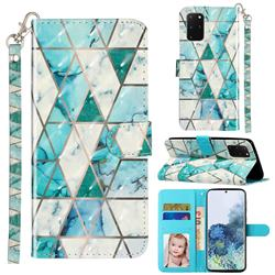 Stitching Marble 3D Leather Phone Holster Wallet Case for Samsung Galaxy S20 Plus / S11