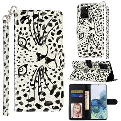 Leopard Panther 3D Leather Phone Holster Wallet Case for Samsung Galaxy S20 Plus / S11