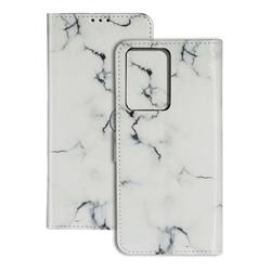 Soft White Marble PU Leather Wallet Case for Samsung Galaxy S20 Plus / S11