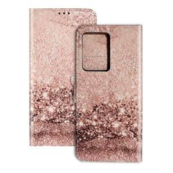 Glittering Rose Gold PU Leather Wallet Case for Samsung Galaxy S20 Plus / S11