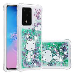Tiny Unicorn Dynamic Liquid Glitter Sand Quicksand Star TPU Case for Samsung Galaxy S20 Ultra / S11 Plus