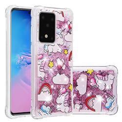 Angel Pony Dynamic Liquid Glitter Sand Quicksand Star TPU Case for Samsung Galaxy S20 Ultra / S11 Plus