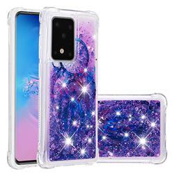 Retro Wind Chimes Dynamic Liquid Glitter Sand Quicksand Star TPU Case for Samsung Galaxy S20 Ultra / S11 Plus