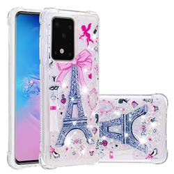 Mirror and Tower Dynamic Liquid Glitter Sand Quicksand Star TPU Case for Samsung Galaxy S20 Ultra / S11 Plus